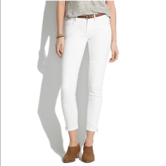 467601806ac Madewell Denim - Madewell White Skinny Skinny Ankle Jeans
